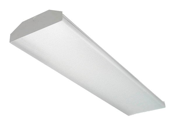 BFWB - Contractor-Grade Fluorescent Surface and Suspended Mount Wrap Fixture